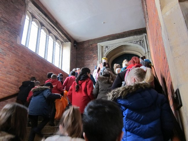 Photo Katie Green; workshop during site visit to Hampton Court
