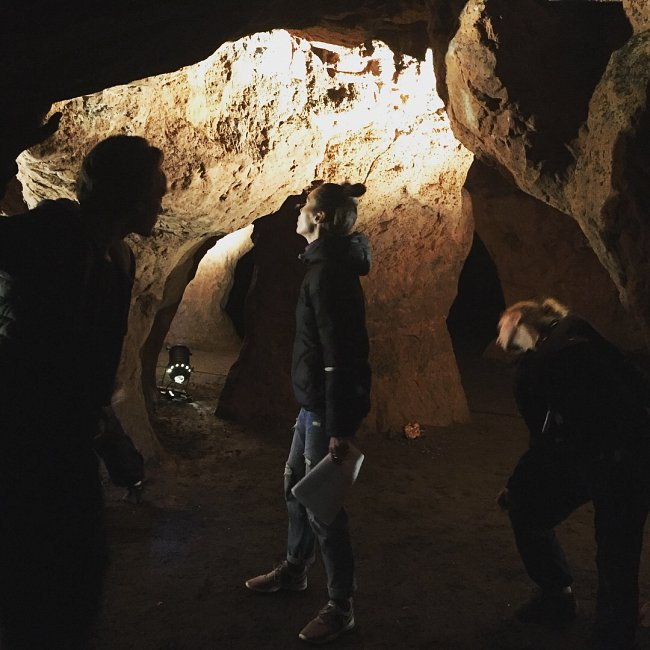 Rehearsing at Redcliffe Caves