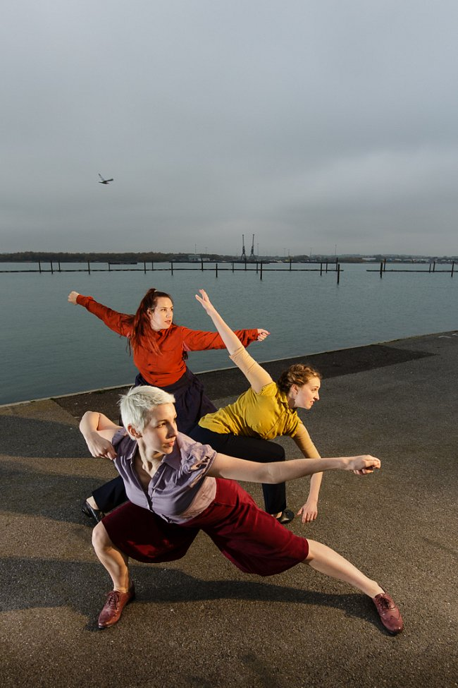 The Imagination Museum: Mayflower 400, photographer Owen Benson; performers Sarah Blanc, Megan Griffiths, Lucy Starkey